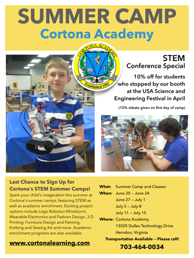 Sign up now for STEM Summer Camp and Academic Enrichment!