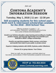 Open House May 1st