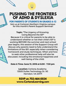 June parent seminar