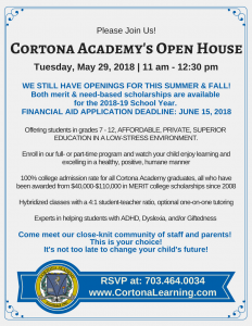 Open House May 29, 2018