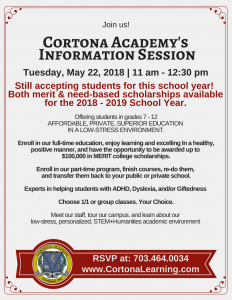 Information Session May 22