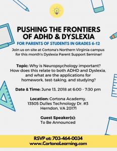 ADHD & Dyslexia Seminar June 1st
