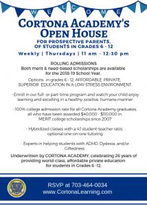 Thursday Open House