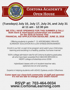July Events-Open House