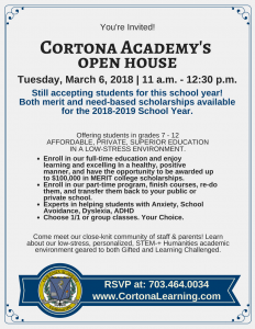 Open House March 6