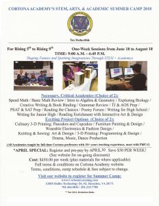 summer camp grades 4 - 8