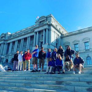 Cortona Academy students at Library of Congress